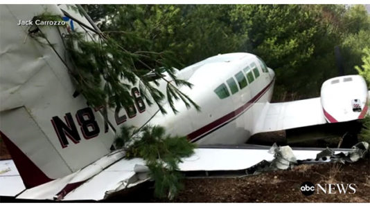 Small plane catches fire after emergency landing