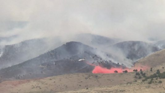 Utah highway reopened, fire moves away from Minersville