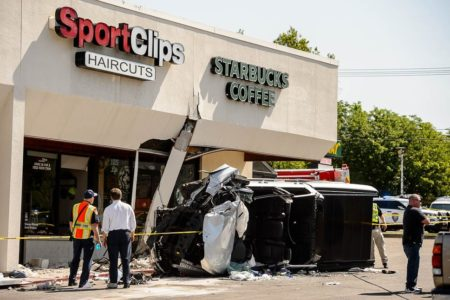 Police can't confirm medical issue led to Starbucks crash
