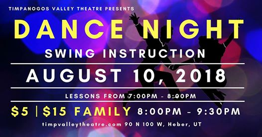 Timpanogos Valley Theater Hosts Swing Dance Night