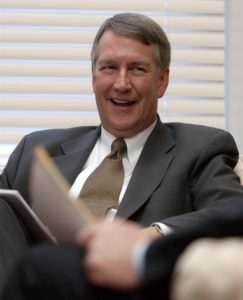 Utah Senate President John Valentine in the first meeting of the newly-elected Senate leadership. Photo by Trent Nelson; 11.10.2004