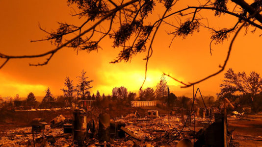 Deadly Northern California wildfire nearly doubles in size overnight
