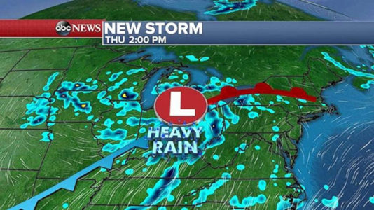 New storm system in middle of country to bring rain to East by end of week