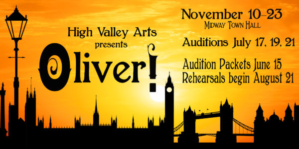 Roles For Oliver Released For High Valley Arts Presentation
