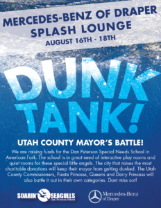 Help raise money for a special needs school and dunk a Mayor