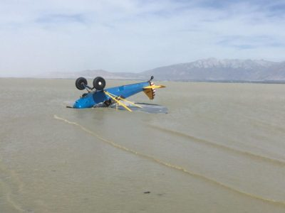 Pilot escapes serious injury when plane flips upside-down