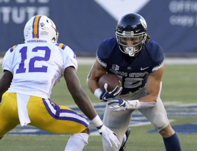 Utah State rushes for 7 TDs, cruises by Tennessee Tech 73-12