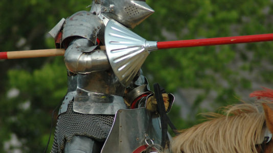 Medieval re-enactor on horseback killed after being impaled on his own lance