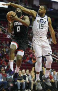 Utah downs Rockets 100-89, Harden leaves game in 4th