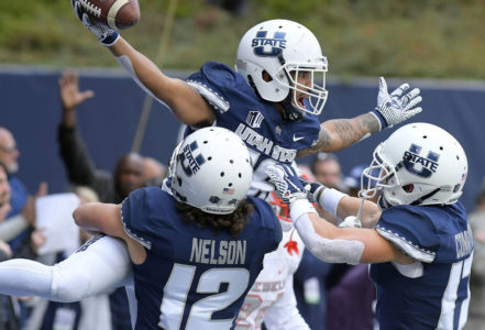 Love delivers for Utah State in 59-28 win over UNLV