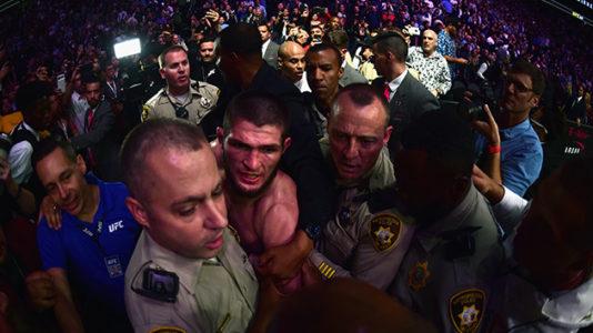 UFC 229 descends into chaos after Khabib Nurmagomedov taps out Conor McGregor