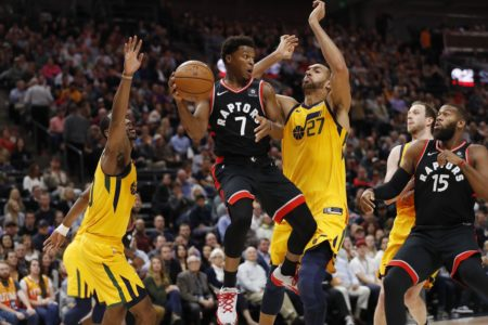 Lowry and balanced Raptors rout slumping Jazz 124-111