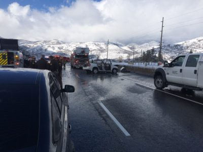 Woman dies after rollover on I-80 near Lambs Canyon junction