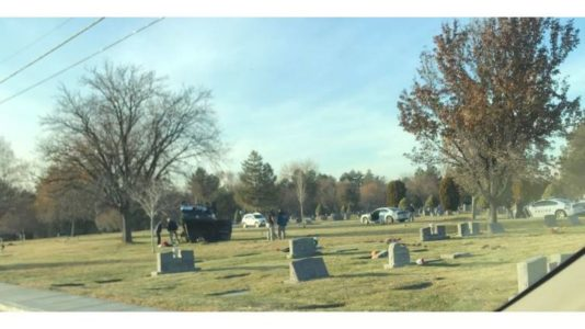 Headstones damaged, toppled when pickup rolls in cemetery