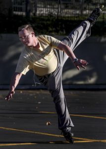 Salt Lake City's 'Rollerblade King' puts on morning shows