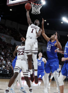 Aric Holman leads No. 19 Mississippi St over BYU 103-81