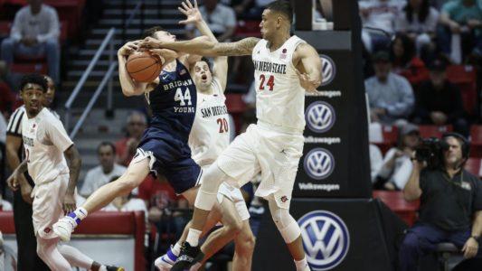 Watson, Mitchell lead San Diego State to 90-81 win vs BYU