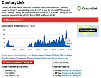Nationwide internet outage affects CenturyLink