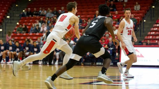 Dixie State Men's Basketball Routs Metro State Friday