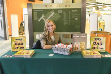 Book signing at the UVU Bookstore on Monday, November 12, 2018. (Savanna Richardson / UVU Marketing)