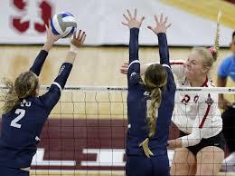 Stanford dominates BYU 3-0 in NCAA volleyball semifinals