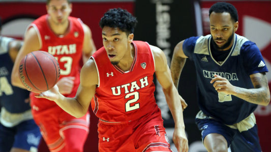 , Utah men's basketball vs. Nevada December 29, 2018 in Salt Lake City, UT. (Photo / Steve C. Wilson / University of Utah)