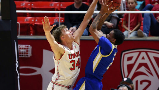 , Utah men's basketball vs. Tulsa December 1, 2018 in Salt Lake City, UT. (Photo / Steve C. Wilson / University of Utah)