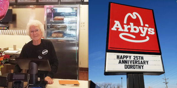 94-year-old woman continues work at Arby's after 25 years