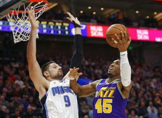 Mitchell scores 33 points, Jazz rally to beat Magic