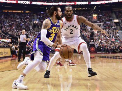 Leonard scores career-high 45, Raptors beat Jazz 122-116