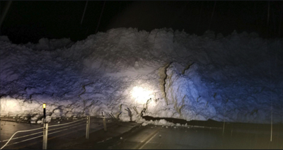 Crew clearing huge avalanche that closed highway