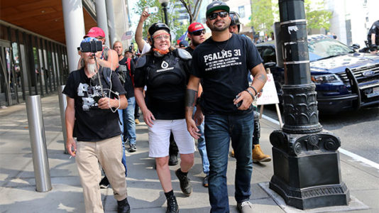 Texts between right-wing protester and Portland police prompt investigation
