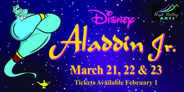 Tickets Now On Sale For High Valley Arts' Production of Aladdin Jr.