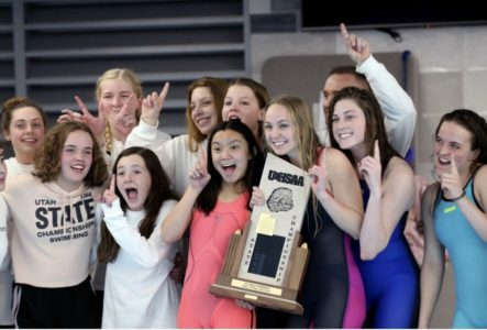 Wasatch High Girls Swimming Wins 5-A Title