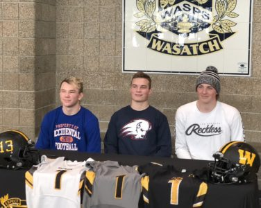 Three Wasatch Football Standouts Continue Their Playing Careers