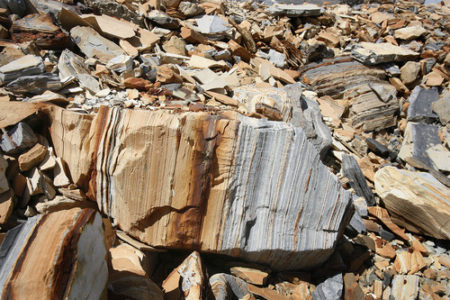 Scott Sommerdorf      The Salt Lake Tribune Some of the tailings from oil shale on Enefit American Oil's White River mine on BLM land in eastern Uintah county, Wednesday, August 7, 2013.