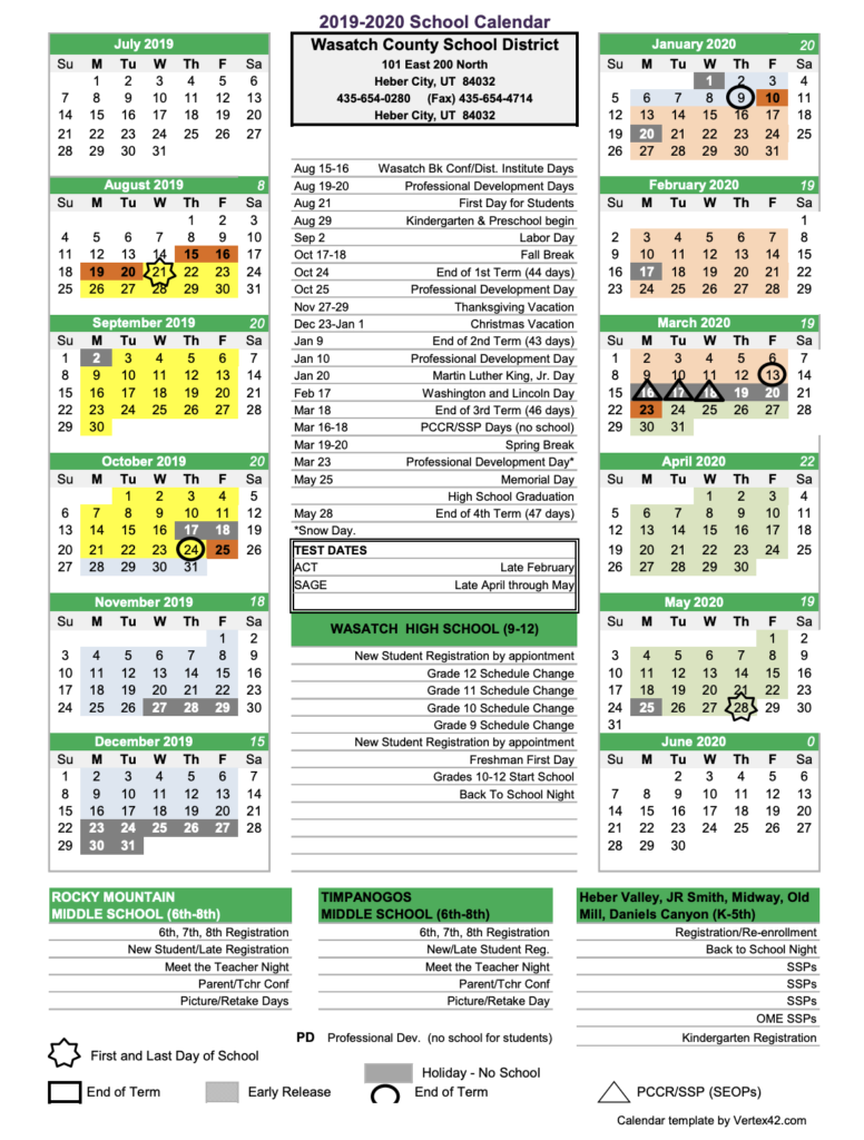 Ut Spring Break 2020.Wasatch School District Proposes March 2020 Spring Break