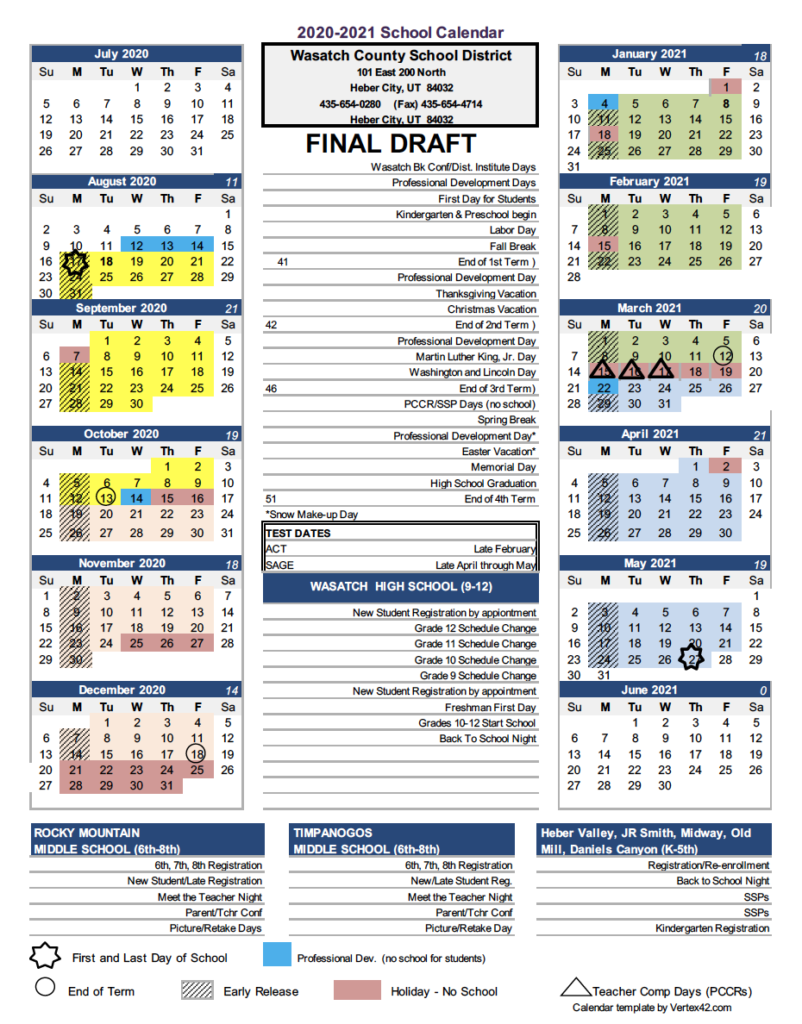 Ut Calendar 2021-22 WASATCH SCHOOL DISTRICT REVIEWS A PROPOSAL TO CHANGE THE CALENDAR