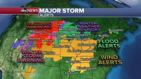 Blizzard Cripples Plains, Severe weather including possible tornadoes hit midwest as powerful storm moves out